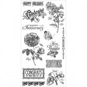 Time to Flourish - Cling Stamp 2